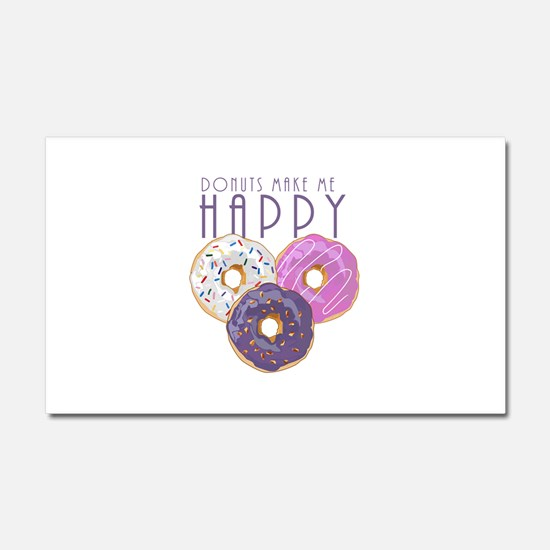Donuts Make Me Happy Car Magnet 20 x 12