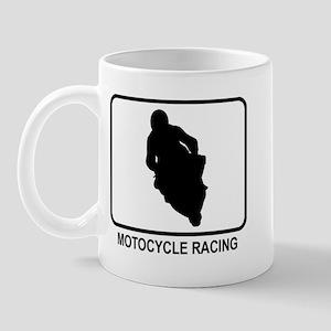 Motocycle Racing (white) Mug