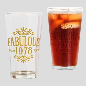 Fabulous Since 1978 Drinking Glass