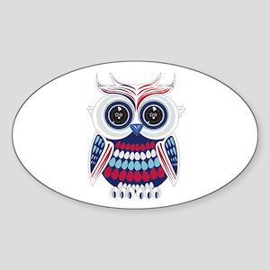 Patriotic Owl Sticker