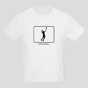 Mens Volleyball (white) Kids Light T-Shirt