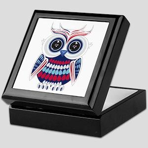 Patriotic Owl Keepsake Box