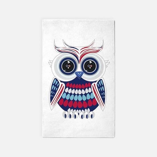 Patriotic Owl Area Rug