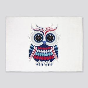 Patriotic Owl 5'x7'Area Rug