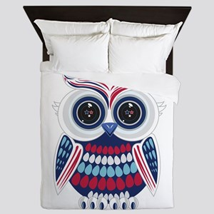 Patriotic Owl Queen Duvet