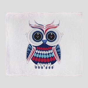 Patriotic Owl Throw Blanket
