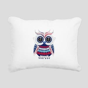 Patriotic Owl Rectangular Canvas Pillow