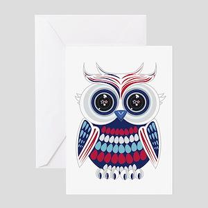 Patriotic Owl Greeting Cards