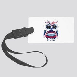 Patriotic Owl Large Luggage Tag