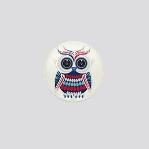 Patriotic Owl Mini Button