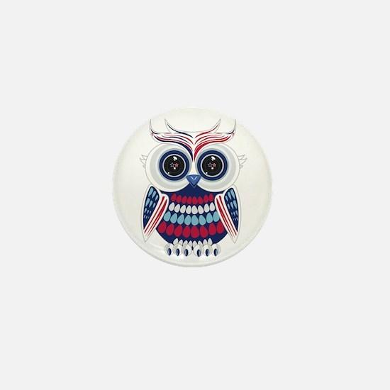 Patriotic Owl Mini Button