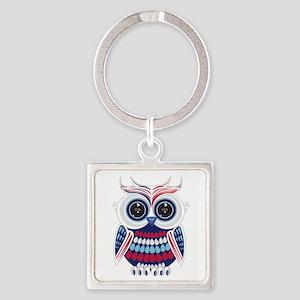 Patriotic Owl Keychains