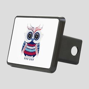 Patriotic Owl Rectangular Hitch Cover