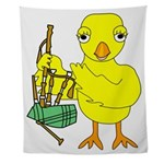 Bagpipe Chick Wall Tapestry