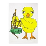 Bagpipe Chick 5'x7'Area Rug