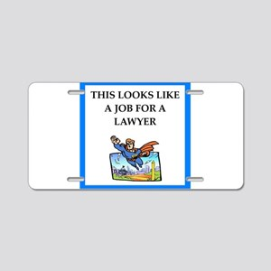 lawyer Aluminum License Plate