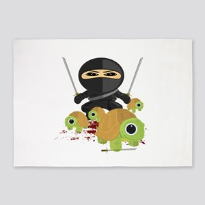 Ninja and Turtles 5'x7'Area Rug