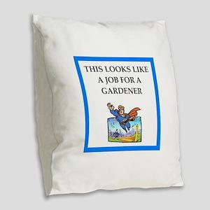 gardener Burlap Throw Pillow