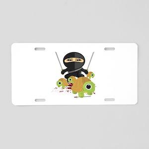 Ninja and Turtles Aluminum License Plate