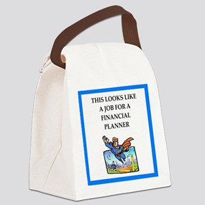 finanancial planner Canvas Lunch Bag
