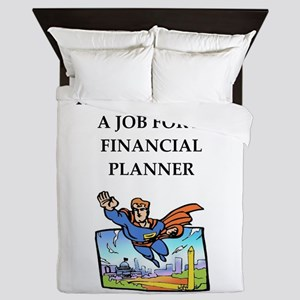 finanancial planner Queen Duvet