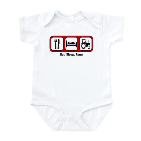 Eat, Sleep, Farmer Infant Bodysuit