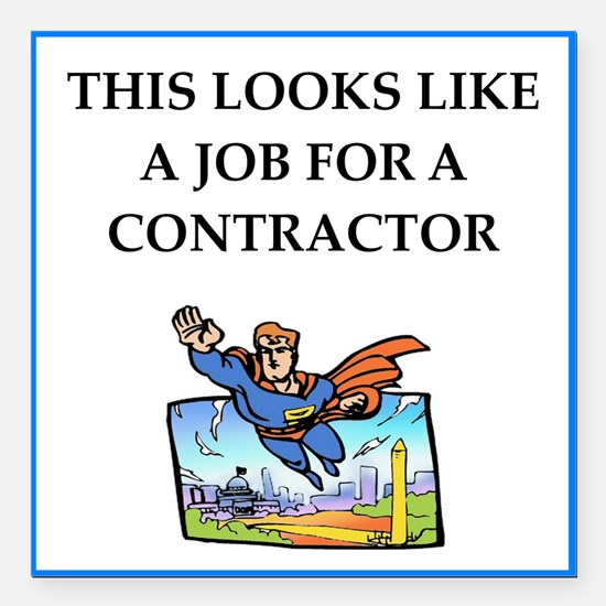 """contractor Square Car Magnet 3"""" x 3"""""""