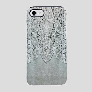 grey linen bohemian lace iPhone 8/7 Tough Case