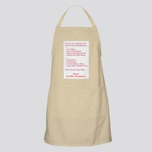 Reformed Feminist Back to Kitchen BBQ Apron