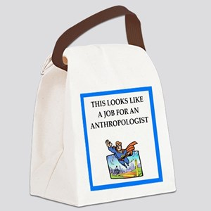 anthrpology Canvas Lunch Bag