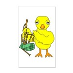 Bagpipe Chick Wall Decal