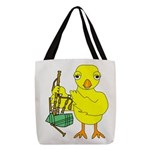 Bagpipe Chick Polyester Tote Bag