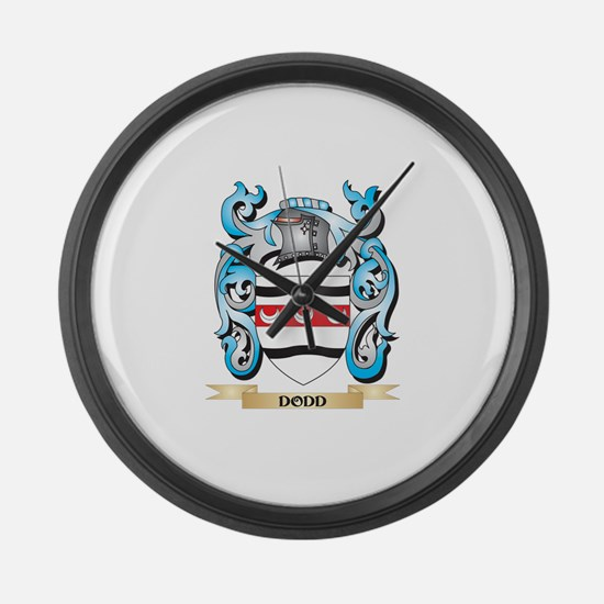 Dodd Coat of Arms - Family Crest Large Wall Clock