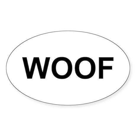 WOOF Sticker