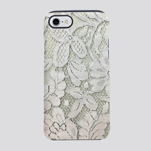 shabby chic white lace iPhone 8/7 Tough Case