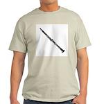 Woodcut Clarinet Light T-Shirt