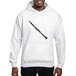 Woodcut Clarinet Hooded Sweatshirt