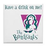 The Bouffants Tile Coaster
