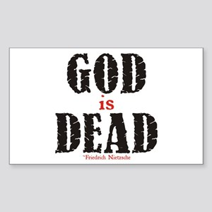 God Is Dead Rectangle Sticker