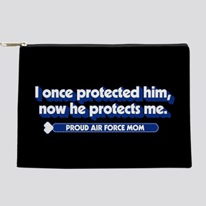 U.S. Air Force Now He Protects Me Makeup Bag