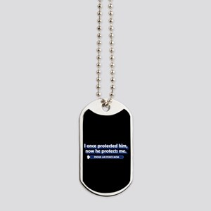 U.S. Air Force Now He Protects Me Dog Tags