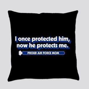 U.S. Air Force Now He Protects Me Everyday Pillow
