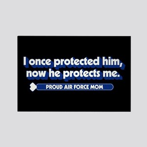 U.S. Air Force Now He Protects Me Rectangle Magnet