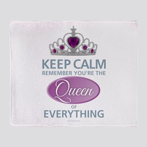 Queen of Everything Throw Blanket
