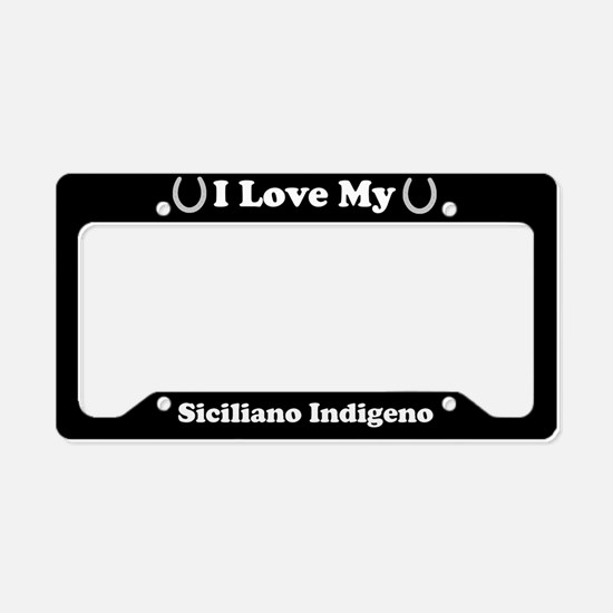 I Love My Siciliano Indigeno Horse License Plate H