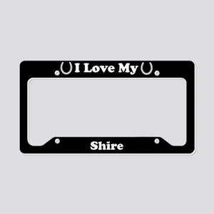 I Love My Shire Horse License Plate Holder