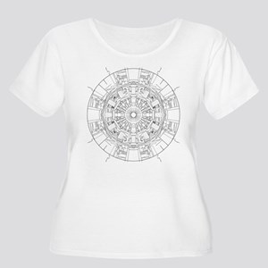 Large Hadron Collider Lineart Plus Size T-Shirt