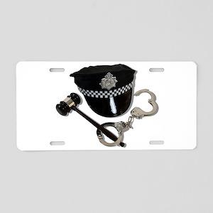 HandcuffsGavelPoliceHat0731 Aluminum License Plate
