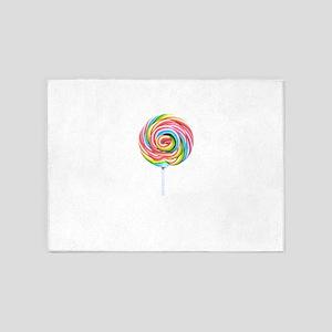 loliipop candy 5'x7'Area Rug
