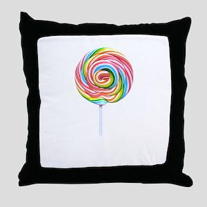 loliipop candy Throw Pillow